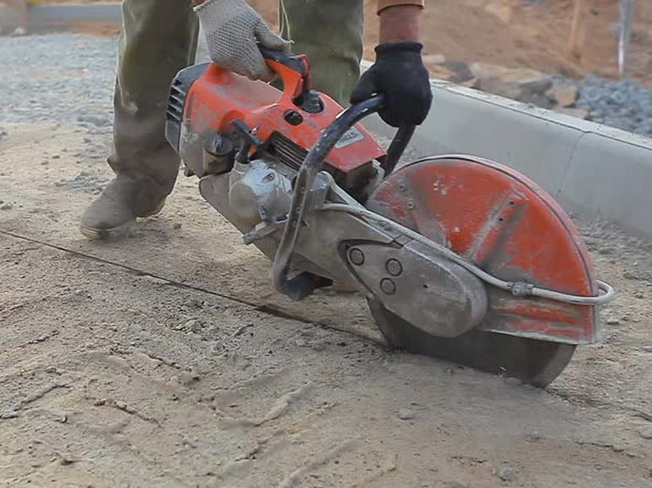 cutting a concrete slab