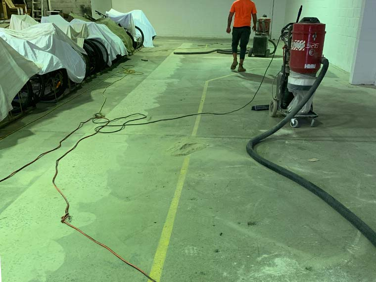 grind and seal concrete start