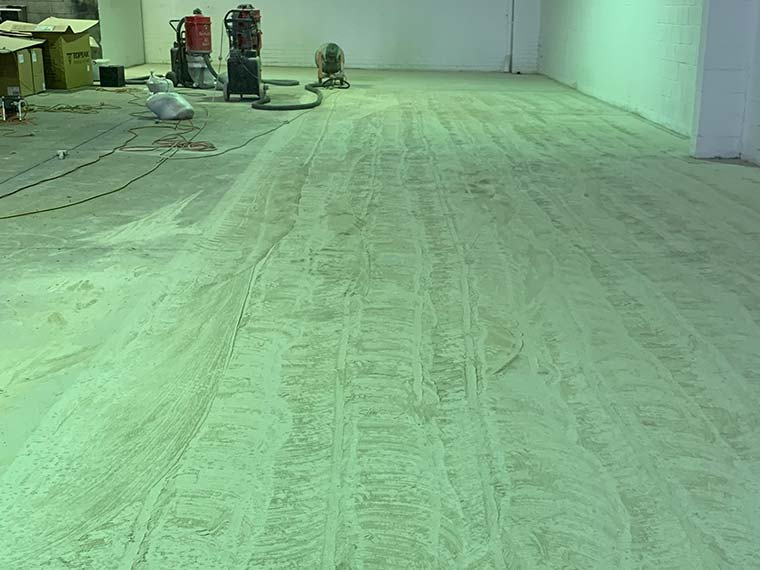 grind and seal concrete dust removal