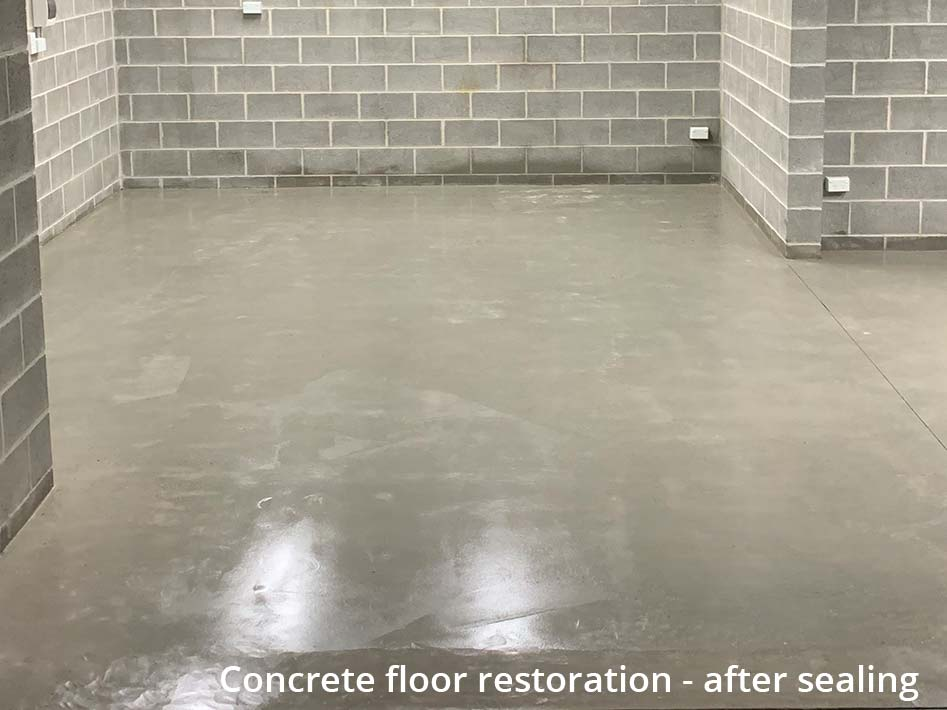 concrete floor restoration - after