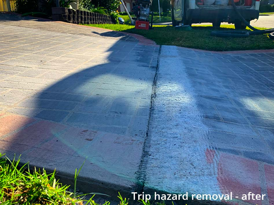 trip hazard removal - after